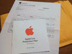 AppleCare Protection Plan for iPhoneの登録書がやっと届いたよ。